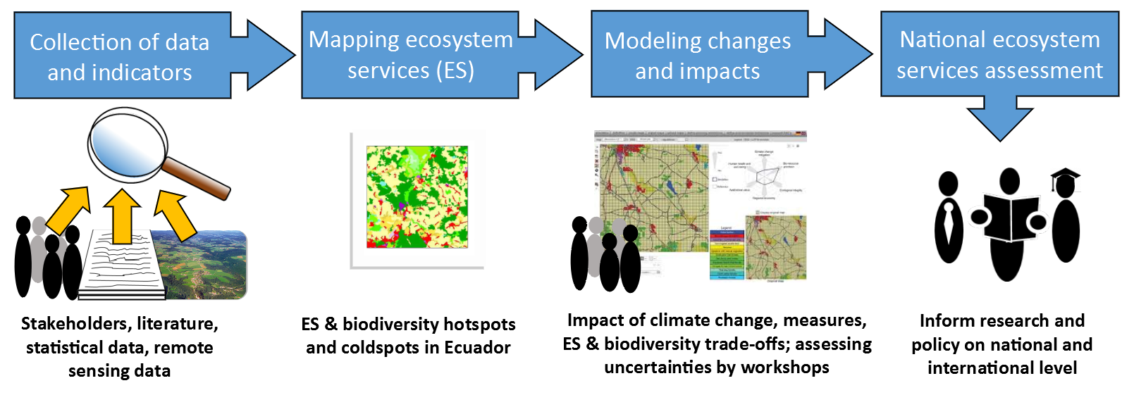 Schematic overview of the research, ES= Ecosystem services